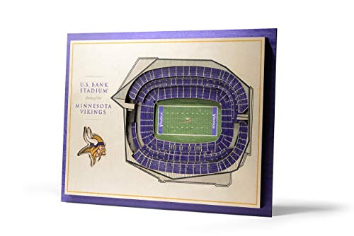 (NFL Minnesota Vikings 5-Layer Stadiumviews 3D Wall Art )