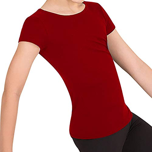 "Body Wrappers Pullover - Body Wrappers Boy's Ballet Dancewear Short Sleeve ""Snug Fit"" Pullover (Scarlet, 11-12) - B400"