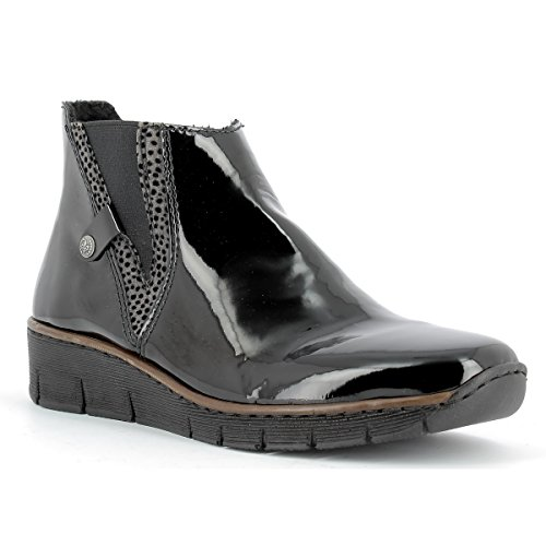 36 montantes au Chaussures RIEKER Bottines Bottes 00 RIEKER 73771 Schwarz femme 41 z8xFw
