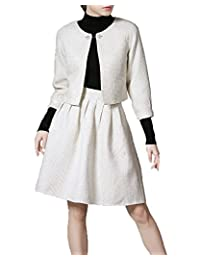 Angel&Lily Trendy Comfy Career party jacket top & Skirt Suit plus1x-5x