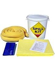 Kit de derrames químicos/universales de 34 litros en un tambor de plástico