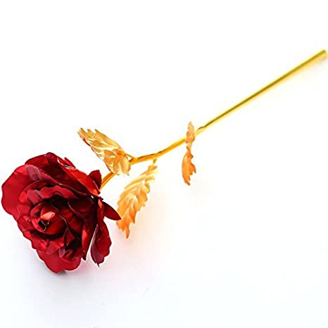 Amazon Menilithsgold Foil Plated Rose Flower Creative Best