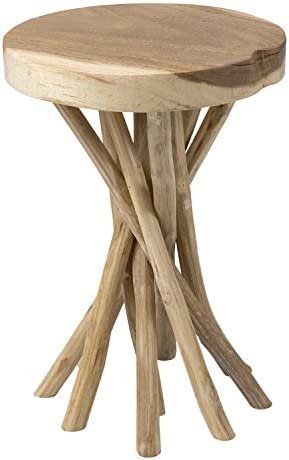 EAST at MAIN Kenton Teakwood Round Accent Table
