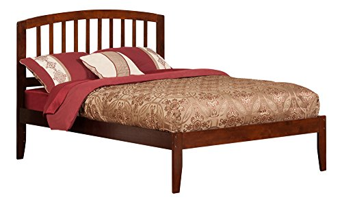 Richmond Bed with Open Foot Rail, Full, Antique Walnut
