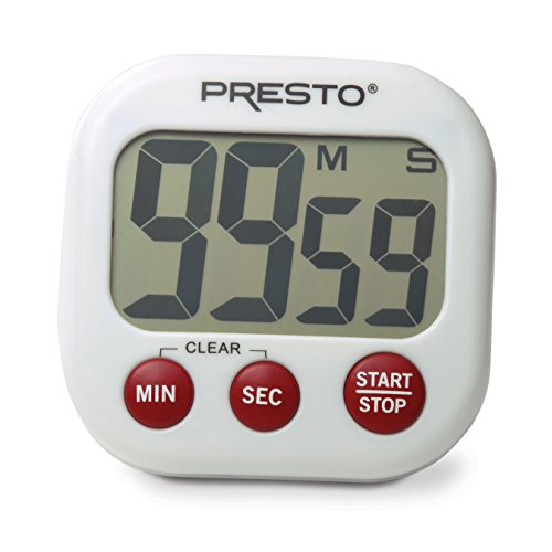 Chronograph Pocket Timepiece - Presto 04214 Electronic Big Digital Timer, White