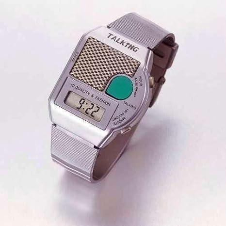 Reloj de pulsera parlante - Reloj Digital reloj - mensaje de voz Alemana - Plata: Amazon.es: Hogar