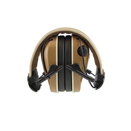 23 Earmuff (Radians Remington NRR 23 dB Premium Electronic Earmuff, Khaki/Gold)