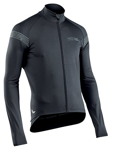 NORTHWAVE Man cycling light jacket l/s EXTREME H20 - total protection black by Northwave