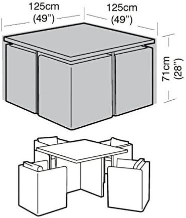Garland Juego de cobertores para 4 sillas y mesa, forma de cubo ...