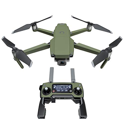 Solid State Olive Drab Decal Kit for DJI Mavic 2/Zoom Drone – Includes 1 x Drone/Battery Skin + Controller Skin