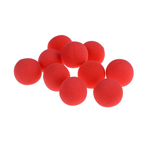 Ensunpal 10 Pcs Magic Red Sponge Balls Trick Soft Foam Balls for Party Halloween Costume Christmas Wedding