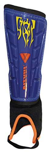 Vizari Blaze Shin Guard, Blue/Orange, Small by Vizari