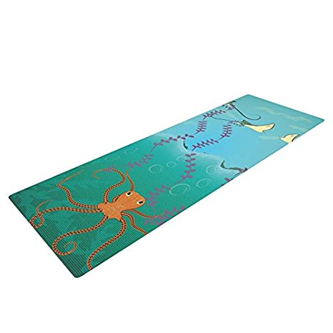 Amazon.com : Kess InHouse Famenxt Octopus Flying Manta Rays ...
