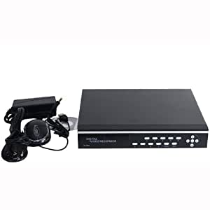 VideoSecu 4 Channel DVR Video H.264 Network Embeded Stand Alone Security Digital Video Recorder Support Remote View iPhone Google Phone with 1500GB Hard Drive for CCTV Home Surveillance System 1YT