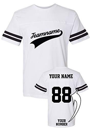 (Custom Cotton T-Shirts - ADD Your Name Number - Team Apparel - Design Your Baseball Jersey)