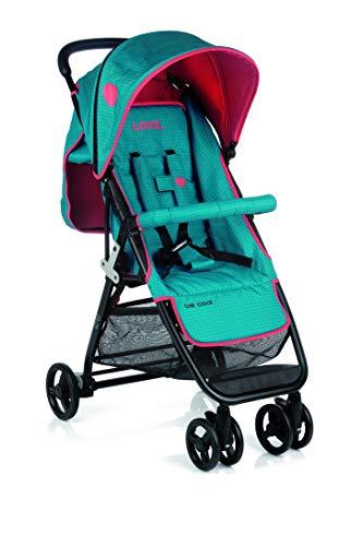 Be Cool Zas Silla de Paseo Plegable, Uso desde Recien Nacido, Ligera con Chasis de Aluminio, Color Wave