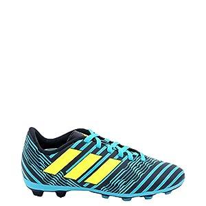 adidas Boys' Nemeziz 17.4 Fxg J Soccer Shoe, Legend Ink/Solar Yellow/Energy Blue, 2.5 Medium US Little Kid