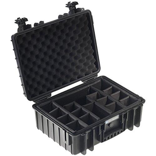 B&W Outdoor Cases Typ 5000 RPD (variable Facheinteilung) schwarz