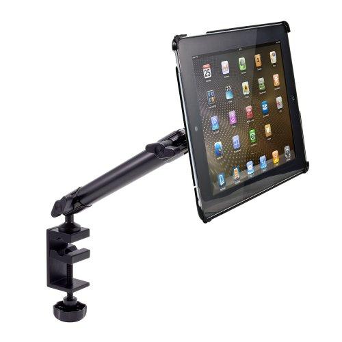 Arkon Custom Fit Apple iPad 4 3 2 Heavy Duty 10 inch C Clamp Tripod Table Desk or Cart Mount by ARKON (Image #2)