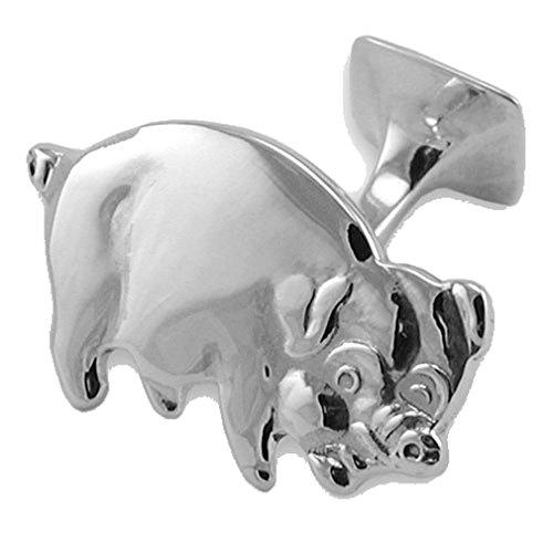 pig Sterling Box pig Cufflinks Set Cufflinks Clip silver Tie silver Sterling nOO7aXq