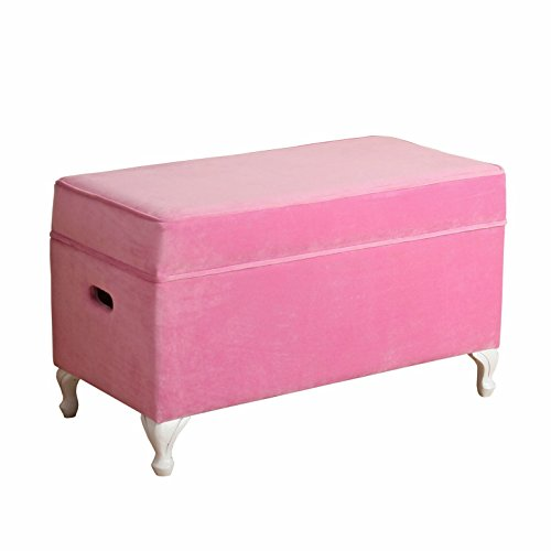 HomePop K7579-B220 Youth Storage Bench, - Storage Bench Style Queen Anne
