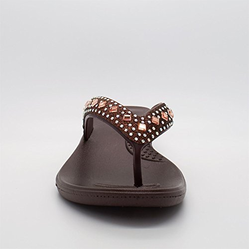 Retro Marrone Aperto Footwear marrone Donna London 5wq6a7O