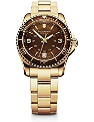Victorinox Womens 241614 Maverick Analog Display Swiss Quartz Gold Watch