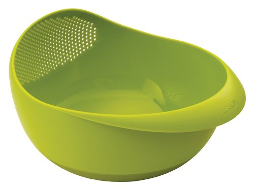 Joseph Joseph 40063 Prep & Serve Multi-Function Bowl with Integrated Colander, Large, Green