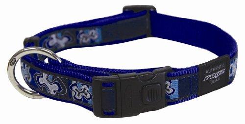 Rogz Fancy Dress Armed Response Dog collar - XLarge / Indigo Bones