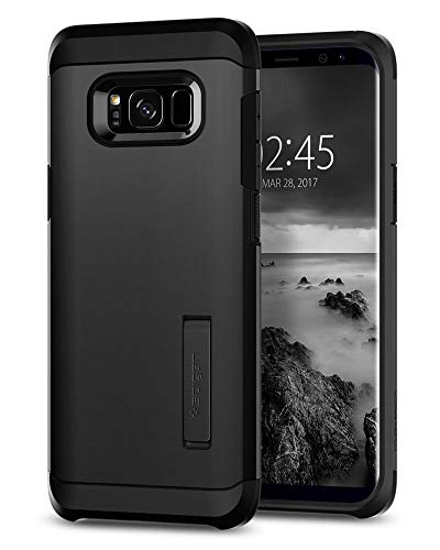 Spigen Tough Armor Galaxy S8 Plus Case with Reinforced Kickstand and Heavy Duty Protection and Air Cushion Technology for Samsung Galaxy S8 Plus (2017) - Black (Renewed)