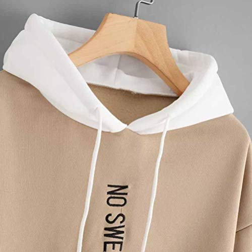 Vetement Tops Sweat No Capuche Longues Kaki Femme Chic Cher wE7Iqa