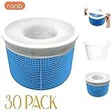 RANB Pool Skimmer Socks (30 Pack) - Durable Material Pre-Filter Saver Socks Net for Baskets and Skimmers