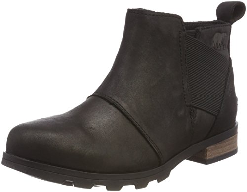 Sorel Womens Emelie Chelsea Black Boot - 8 by SOREL