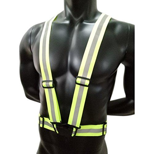 de trote Correr de motocicleta de alta en Aituo carrera trabajo permanezca visibilidad cualquier o Chaleco bicicleta reflectante seguridad verde qFxPYP