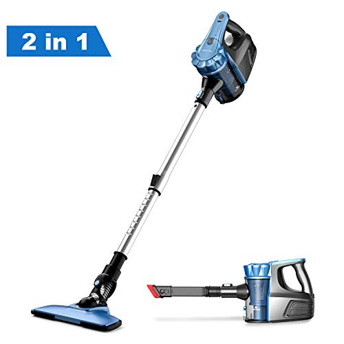 Cordless Vacuum Cleaner, Lightweight 2 in 1 Handheld Vacuum Cleaner Two Speeds Suction Power Stick Vacuum with Brushless for Family and Car Cleaning