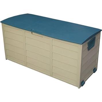 DiscountSeller al Aire Libre jardín baúl de plástico cojín cobertizo de Almacenamiento de plástico Caja de