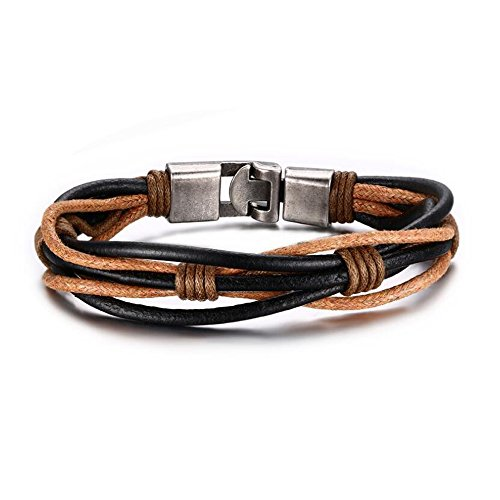 [Fariishta Jewelry Vintage Leather Wrist Band Rope Bracelet Bangle] (Homemade Stingray Costume)