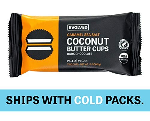 Eating Evolved - Organic Coconut Butter Cups, Caramel and Sea Salt, 1.5 oz each (9 Count)