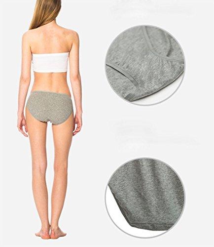 Mujer De La Ropa Interior De La Ropa Interior De Algodón Tejido De Impresión Bajo La Cintura Calzoncillos [3 Packs] A2