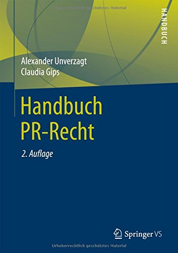 Handbuch PR-Recht (German Edition) by Springer VS