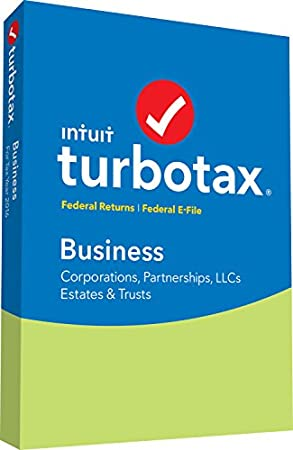 TurboTax Business 2016 Tax Software Federal + Fed Efile PC Disc