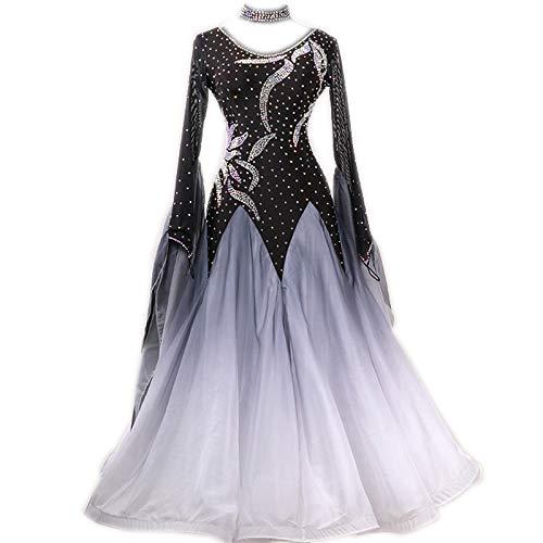 garudaサイズセミオーダー高級ドレス レディース社交ダンス衣装競技ワンピース 新入荷ワルツドレス 画面色 セミオーダー
