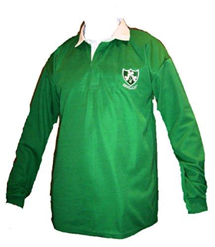 Irland Irish Shamrock-Rugby-Shirt, für Erwachsene, Gr. S, M, L, XL, XXL, 3XL, 4XL, 5XL, langärmelig, exclusiv