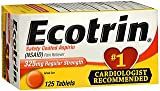 Ecotrin 325 mg Regular Strength Tablets 125 ea (Pack of 4)