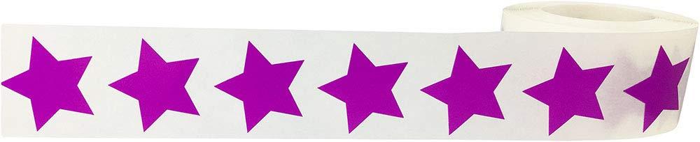 Lilla Stella Adesivi 500 Etichette su Rotolo 25 mm 1 Pollice di Larghezza