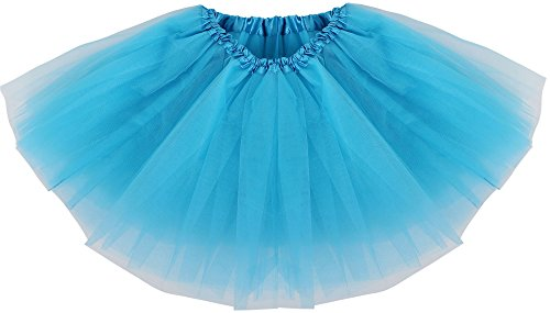 [Simplicity Girl Classic Elastic Pettiskirt Layer Tulle Tutu Skirt,Peacock Blue] (Maleficent Toddler Costumes)