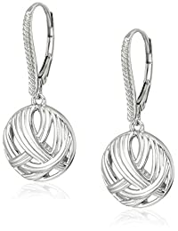 Sterling Silver Fluted Collection leverback Drop Earrings