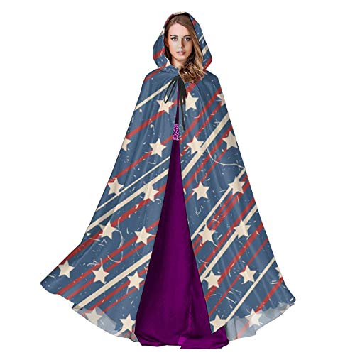 Care Bear Halloween Costume Canada (Cloak for Men and Woemn American Patriotic Stars and Stripes Textured Seamless Pattern in Vintage Colors. Cloak Cape)