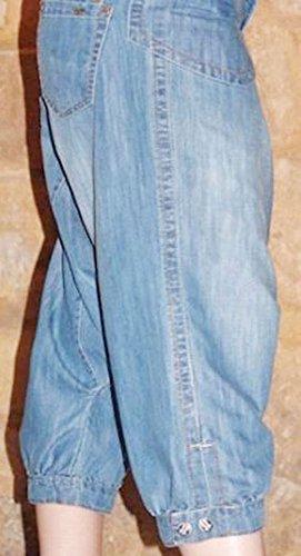 cedric et Bleu Devant Pantacourt Pierre Plaques Dos Rivetes Poches Jeans Saroual dZFxSHR