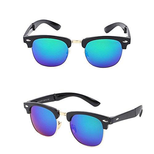 Wayfarer Clubmaster de Mujer Sol Retro Hombre STRIR Gafas E q7RwI